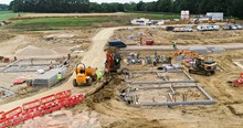 Mackoy Groundworks News Site Overview at Emsworth Project for Bellway