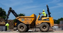 Mackoy Civil Engineering Dumper Driven on Site by Groundworks Operative