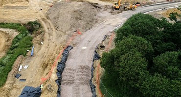 Roads and 278 works overview on Mackoy Groundworks Site