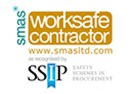 Mackoy Groundworks Accreditation smas worksafe contractor Logo